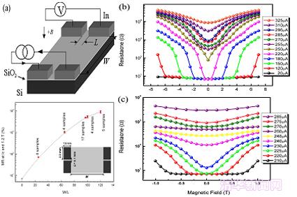 这种兼具低场灵敏度和巨磁电阻效应的硅基imr器件可以覆盖从0.