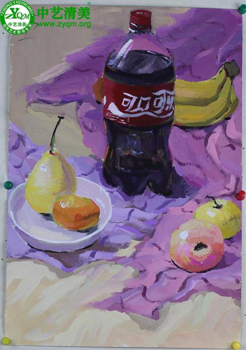 色彩水果怎么画?
