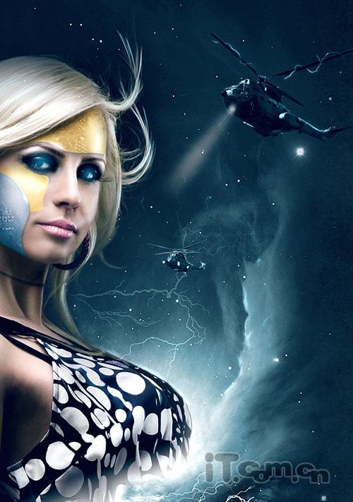 photoshop制作科幻电影海报