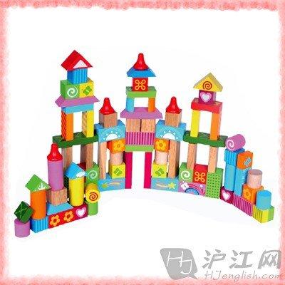 积木搭建步骤图图片大全 大块幼儿园榉木积木 搭建积木1