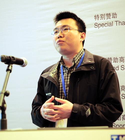 图片报道:河南大学网络信息中心信息部部长贾笑明