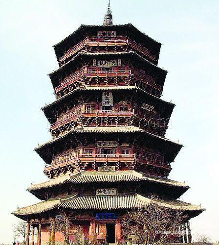 最古老的木结构佛塔