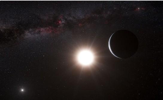 半人马座α星_艺术家的概念图显示新发现的行星半人马座阿尔法星bb,它位于距离地球