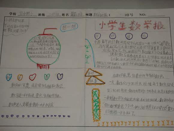 数学二年级小学手抄报:数学v数学小学东晖蒋图片