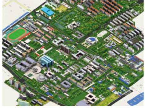南京理工大学3d 校园地图