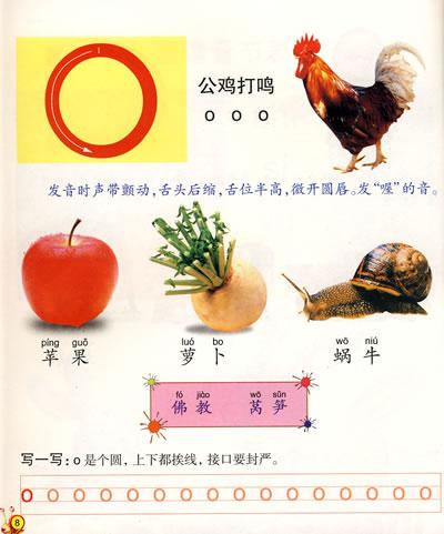"""26个拼音字母表图片大全:""""o""""的拼音字母卡趣图汇总图片"""