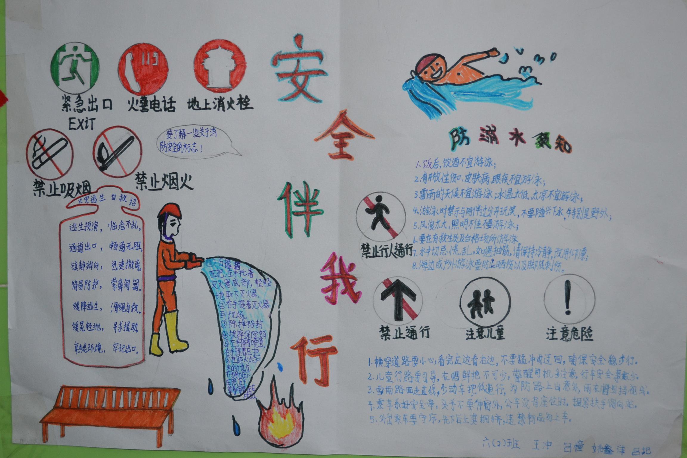 消防安全手抄报:消防安全手抄报版面设计图大全