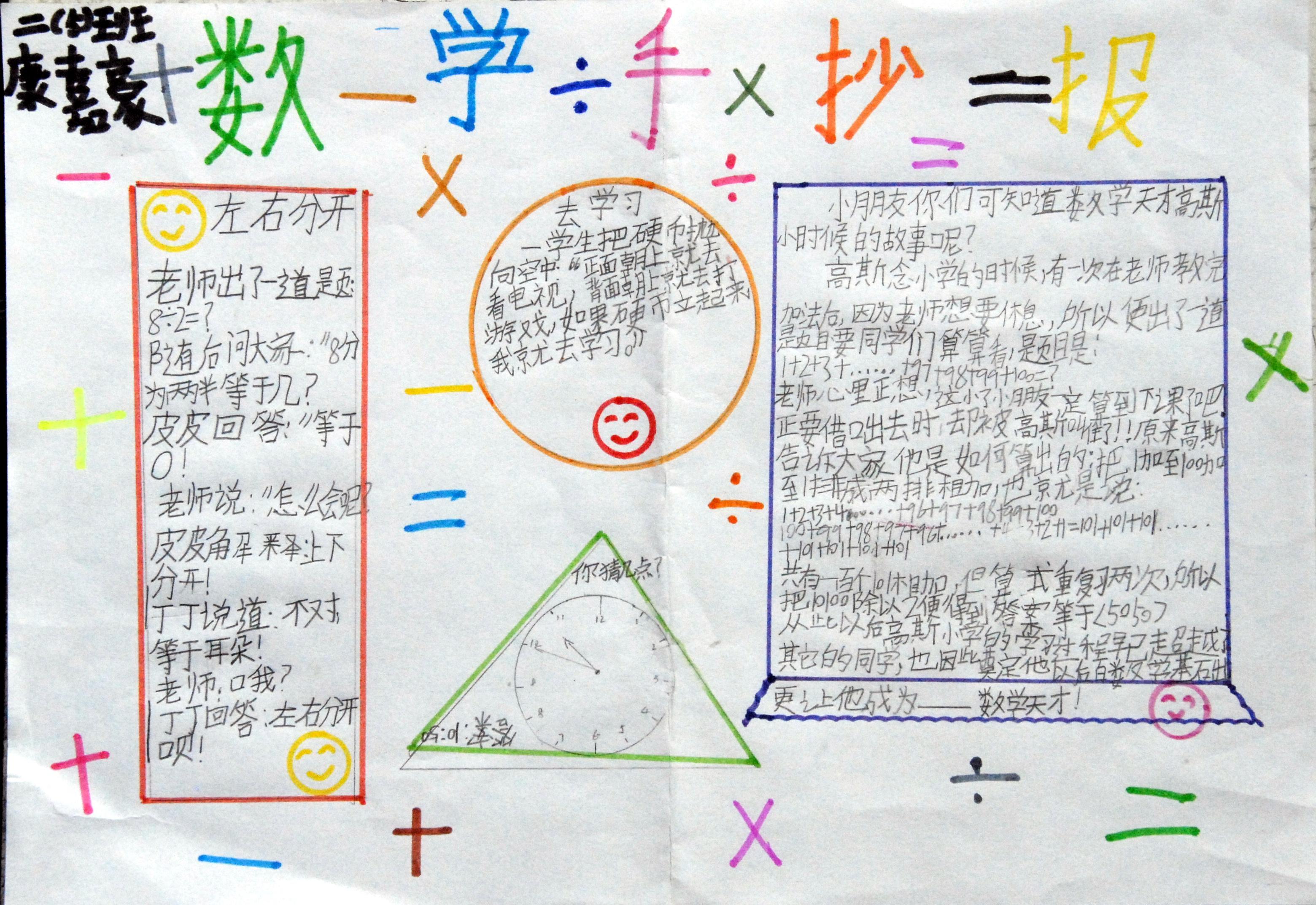 数学手抄报:数学手抄报版面设计图片大全