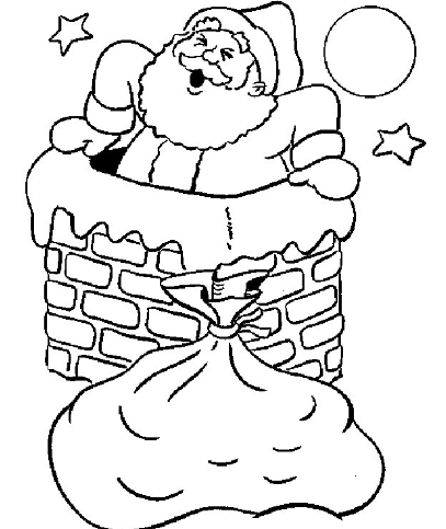 圣诞人物图片 简笔画图片
