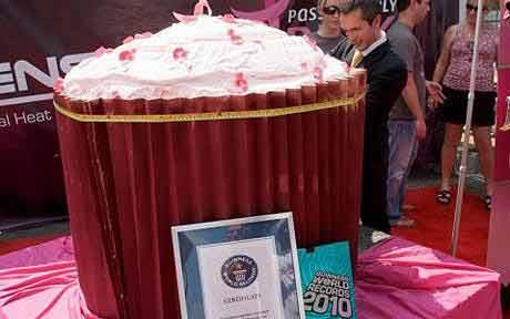 底特律巨型杯蛋糕创吉尼斯纪录